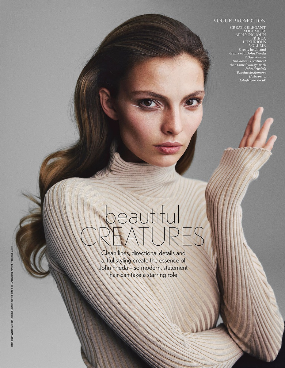LUNDLUND : Vogue UK x John Frieda